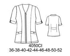 Delantales Corporate Uniforms, Fashion Design Sketches, Diy Clothing, Scrubs, Plus Size, Lady, Blouse, Crochet, Fabien Baron