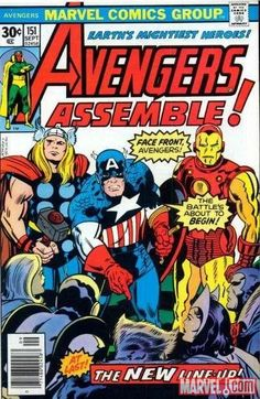 Avengers Assemble in Avengers #151; Frame and Put up
