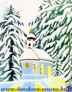 To Call in the Church - Winter landscape, City, acrylic painting / A templom hívogatása - Téli tájkép, Város, akril festmény Winter Landscape, Princess Zelda, Christmas Ornaments, Holiday Decor, Painting, Fictional Characters, Christmas, Winter Scenery, Kunst