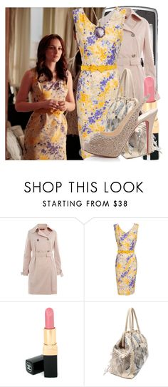 """blair waldorf"" by cla-90 ❤ liked on Polyvore featuring MaxMara, Christian Dior, Ippolita, Chanel, Valentino, Christian Louboutin, belted dresses, blair waldorf, slingback shoes and rosa antico"