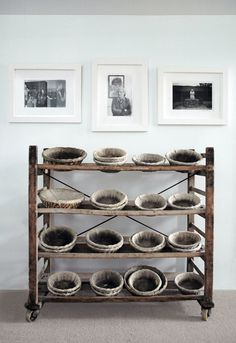 French bread baskets.  Really love the rack.