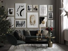 Find inspiration for creating a picture wall of posters and art prints. Endless inspiration for gallery walls and inspiring decor. Create a gallery wall with framed art from Desenio. Collage Mural, Inspiration Wand, Spacious Living Room, Luxury Living, Picture Wall, Scandinavian Design, Decor Interior Design, Living Room Decor, Decoration