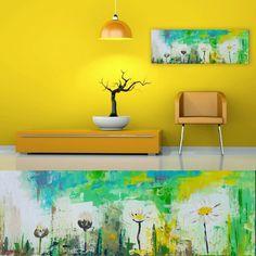 """Awakening"" Ramune Art #artístico #todayart #interiør #contemporaryart #modern #flowers #grassland #greens #yellows #interiordesign #homedeco #colors #colorfullife #ramune_art  #ichliebees #instaartist #kunstliebe #abstract #studio7_26 #upcommingexhibition"
