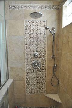 Decorative tile with shaving ledge