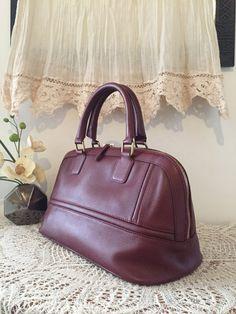 Bordeaux red satchel, Genuine leather tote bag, Women handbag, Soft leather purse, Women satchel, Red leather tote, purse