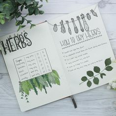 Keep your garden organized with this DIY garden bullet journal 🌱 Bullet Journal Diy, Bullet Journal Ideas Pages, Bullet Journal Spread, Bullet Journal Inspiration, Journal Pages, Bullet Journals, Garden Journal, Nature Journal, Grimoire Book