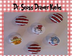 Hand Painted Dr Seuss Cat in the Hat Drawer by FunkyLetterBoutique, $8.50