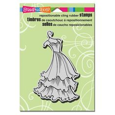 Stampendous - Cling Mounted Rubber Stamp - Tiered Dress