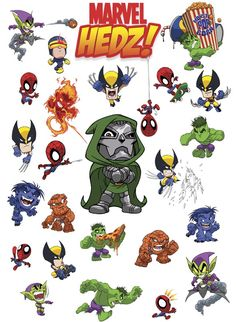 """These bad boys are a regular little gig I've got with Panini Comics for their title, """"Marvel Rampage!"""" Basically these little chibi fellas pop up all ar. Avengers Cartoon, Baby Avengers, Young Avengers, Comic Book Characters, Marvel Characters, Comic Character, Character Design, Chibi Marvel, Marvel Vs"""