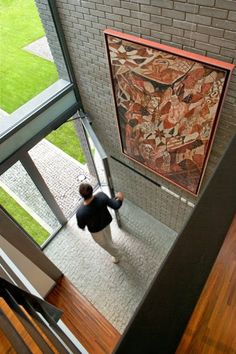 The Open Air Sculpture House by Marek Rytych Architekt Sculpture, Exposed Brick, Architecture, Gallery, Glass, Frame, Home Decor, Offices, Houses