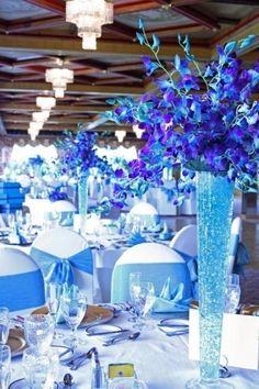 Mariage bleu : la décoration