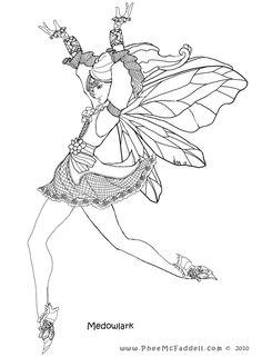 Meadowlark Fairy www.PheeMcFaddell.com