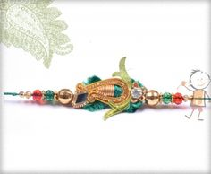 Fancy  #Rakhi Collection 2015 – Send  #Rakhi to #USA #UK #Canada #India #Australia  #Dubai  #NZ #Singapore.  Delicate Green Zardosi Rakhi, surprise your loved ones with roli chawal, chocolates and a greeting card as it is also a part of our package and that too without any extra charges.  http://www.bablarakhi.com/send-fancy-rakhi-online/1142-send-delicate-green-zardosi-rakhi-online.html