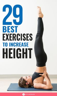 29 Best Exercises To Increase Height: the best possible way to increase height is naturally combining an exercise routine with the right diet. Proper exercise helps in toning and strengthening your muscles, releasing the growth hormones which are responsi Gym Workout For Beginners, Gym Workout Tips, Fun Workouts, At Home Workouts, Workout Body, Kickboxing Workout, Tummy Workout, Body Workouts, Increase Height Exercise