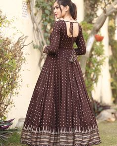 Image may contain: one or more people and people standing Cotton Long Dress, Long Gown Dress, Frock Dress, Cotton Gowns, Kids Party Wear Dresses, Gown Party Wear, Indian Gowns Dresses, Kurta Designs Women, Kurti Designs Party Wear