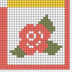Rose pattern C2C Crochet Pattern Blanket C2C pattern | Etsy