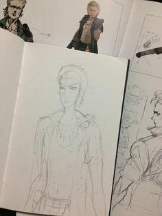 MGSV Eli doodle Metal Gear, My Arts, Doodles, Metal Gear Solid, Scribble, Sketches, Donut Tower, Doodle