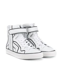 1316433a42da5 These black and white Pierre Hardy Match  leather high-top sneakers will  offer a well-heeled step into the new season. Fabricated for the brand s AW  16 ...