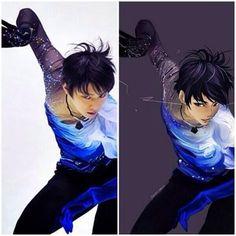 Anime version of Yuzuru Hanyu - Sochi 2014 Olympic gold medalist - mens' figure skating. Anime Nerd, Anime Guys, Ice Skating, Figure Skating, Javier Fernandez, Boys Wallpaper, Anime Version, Image Fun, Hanyu Yuzuru