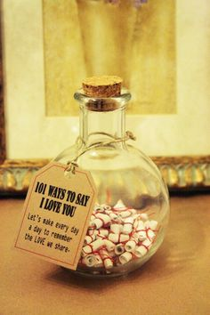 Anniversary Gifts Gift of Love. 101 Ways to say I Love by KozyWozy