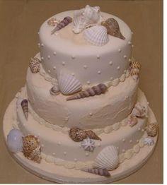 Sea shore island wedding cake but bigger more layers