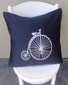 Items similar to Vintage Bicycle Cushion Cover on Etsy Vintage Bicycles, Decoration, Home Projects, Cushions, Throw Pillows, Trending Outfits, Unique Jewelry, Cover, Handmade Gifts