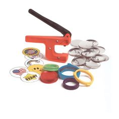 """Badge-A-Minit 1007 2 1/4"""" Badge-A-Minit Button Machine Starter Kit with button parts and designs, want for christmas"""