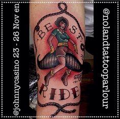 El 23 - 26 de Noviembre @johnnycasino.rocknroll.tattoos estará haciendo un guestspot en @nolandtattooparlour  Citas disponibles! Info a tatuajes@nolandtattooparlour.com #traditional #traditionaltattoos #tattoostudio #tattoo #ink #inkstagram #inkaddicts #tatuajesvalencia #tattoolife #tattooculture #moustache #ride #oldlines #boldlines #guestspot #guestartist #nolandtattooparlour #skinartmag #tradworkers
