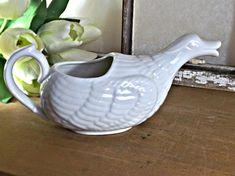 Ceramic Goose Gravy Boat, Retro Kitchen Decor, Goose Pitcher, Vintage Kitchen Decor, Thanksgiving Table Setting, French Farmhouse
