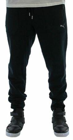 Puma Men's Cuffed Track Pants Sweat Pants Black Size M Large Puma Mens, Active Wear For Women, Black Pants, Sweatpants, Jeans, Womens Fashion, Track, How To Wear, Closet