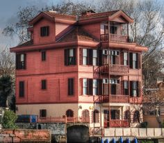 An old Ottoman yali summer house on the shores of the Bosphorus in Istanbul