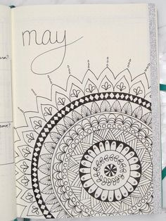 May Planning: Bullet Journal - cocktailsrecipes May Bullet Journal, Bullet Journal Monthly Spread, Bullet Journal Ideas Pages, Bullet Journal Layout, Mandala Drawing, Mandala Art, Diary Covers, Bullet Journel, Doodle Designs