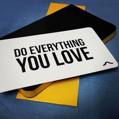 """""""Do everything you love <3 #notebook #rubberband #yellow #yellowpages"""" Photo taken by @phirki on Instagram, pinned via the InstaPin iOS App! http://www.instapinapp.com (07/15/2015)"""