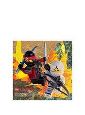 The Lego Ninjago Movie Beverage Napkins 16ct  Party City