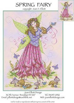 Spring Fairy - Cross Stitch Pattern- A Joan Elliot design