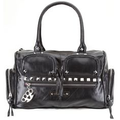 Rock Rebel Black Studded Gothic Cargo Purse [HB17Black] - $48.00 : Mystic Crypt, the most unique, hard to find items at ghoulishly great prices!