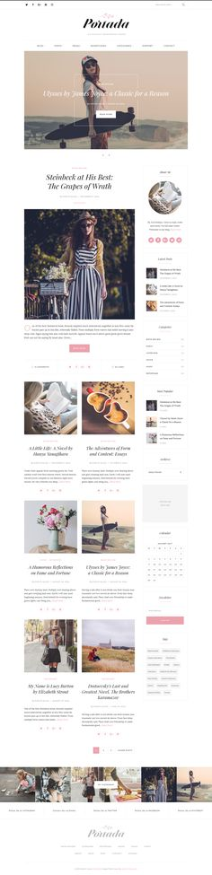 Portada is an elegant, light and aesthetic multi-demo blog WordPress Theme perfect for book lovers, lifestyle and fashion bloggers, stylish female entrepreneurs, a business or personal.