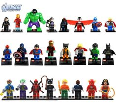 $18.12 - Lot 24 Sets Super Heroes Series Superman Batman Wolverine Hulk MiniFigures Toy