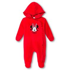 Minnie Mouse Baby Girls' Coveralls - Red 6-9 M