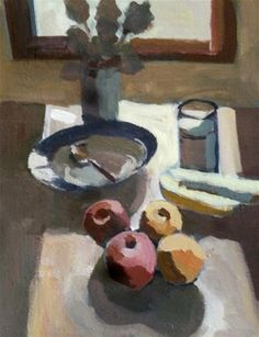 "Daily+Paintworks+-+""Milk+and+Bananas""+-+Original+Fine+Art+for+Sale+-+©+Liz+Maynes"