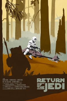 Star Wars: Episode VI: Return of the Jedi - Poster by Drew Roberts #starwars