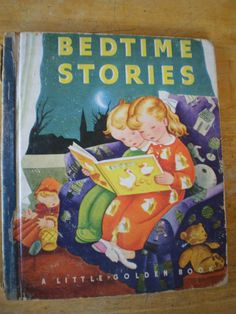 Little Golden Book #2- Bedtime Stories  1942  First Edition (original cover w/blue spine)