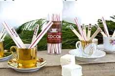 stirrers, holiday party ideas, beautiful christmas tablesettings, diy stirrers www.fatveganbaby.com