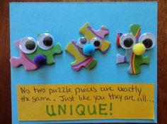 puzzle pieces magnet craft