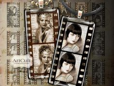 inch printable images OLD MOVIE Digital Collage Sheet Domino size clip art for pendants paper craft magnets scrapbooking ArtCult designs Domino Crafts, Domino Art, Domino Jewelry, Scrapbooking, Scrapbook Layouts, Film Images, Game Pieces, Arts And Crafts Projects, Printables