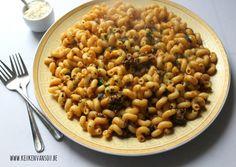 Macaroni met gehakt op Marokkaanse wijze