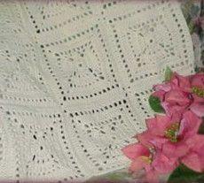 Angel Squares Crochet Afghan... Free pattern!