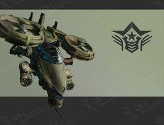 Gunship Picture  (2d, sci-fi, fighter)