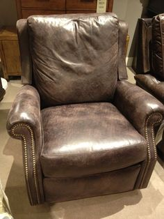For your hubby: Leather swivel-rocker-recliner that your friends liked in the store.