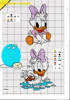 Cross-stitch baby Daisy pattern